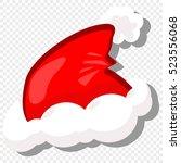red santa hat. vector cartoon... | Shutterstock .eps vector #523556068