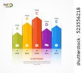 column chart infographic... | Shutterstock .eps vector #523556218