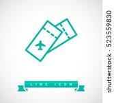 ticket isolated minimal single... | Shutterstock .eps vector #523559830