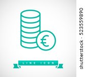 coins isolated minimal icon....   Shutterstock .eps vector #523559890