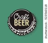 craft beer bottle cap with...   Shutterstock .eps vector #523560118