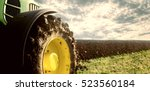 Agriculture. Tractor Plowing...