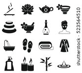 spa treatments icons set.... | Shutterstock . vector #523564510