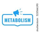 metabolism. badge  logo  symbol ... | Shutterstock .eps vector #523566190