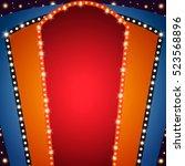 retro stage shining banner... | Shutterstock .eps vector #523568896
