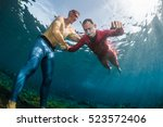 underwater shot of the... | Shutterstock . vector #523572406