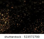 Abstract Gold Glitter Explosio...