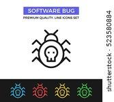 vector software bug icon....   Shutterstock .eps vector #523580884