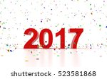 happy new year 2017 | Shutterstock . vector #523581868