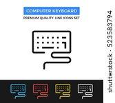 vector computer keyboard icon.... | Shutterstock .eps vector #523583794