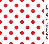 seamless red polka dot pattern... | Shutterstock .eps vector #523586896