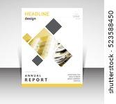 business annual report brochure ... | Shutterstock .eps vector #523588450