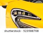 yellow sport car headlight. car ...