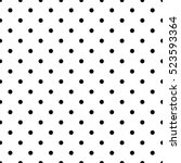 small polka dot seamless... | Shutterstock .eps vector #523593364