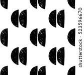 monochrome minimalistic tribal... | Shutterstock .eps vector #523596670