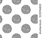 monochrome minimalistic tribal... | Shutterstock .eps vector #523596820