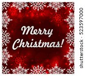christmas banners with... | Shutterstock .eps vector #523597000