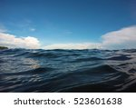 double landscape water and sky... | Shutterstock . vector #523601638