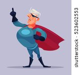 old grandfather superhero... | Shutterstock .eps vector #523602553