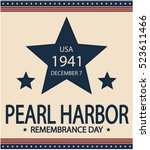 pearl harbor remembrance day... | Shutterstock .eps vector #523611466