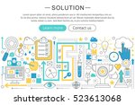 vector modern line flat design... | Shutterstock .eps vector #523613068