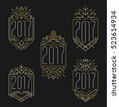 new year 2017 text. art deco... | Shutterstock .eps vector #523614934