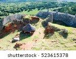 the great zimbabwe ruins near... | Shutterstock . vector #523615378