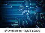 future technology  blue cyber... | Shutterstock .eps vector #523616008