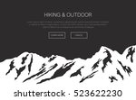 mountains vector background.... | Shutterstock .eps vector #523622230