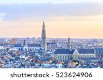 view over antwerp with... | Shutterstock . vector #523624906