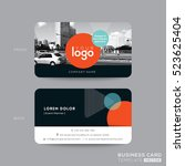 modern business card design... | Shutterstock .eps vector #523625404