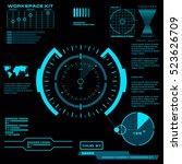 futuristic blue virtual graphic ...   Shutterstock .eps vector #523626709