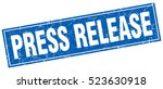 press release. stamp. square... | Shutterstock .eps vector #523630918
