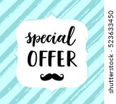 sale card vector illustration.... | Shutterstock .eps vector #523633450