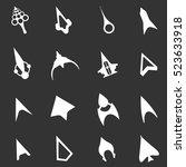 set of 16 cursors. unusual... | Shutterstock .eps vector #523633918