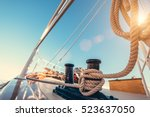 luxury yacht tackle during the... | Shutterstock . vector #523637050