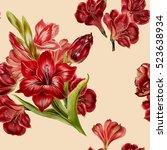 seamless floral pattern.... | Shutterstock . vector #523638934