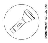 flashlight icon illustration... | Shutterstock .eps vector #523639720