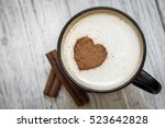 Coffee Cup With Heart Shape