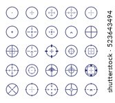 crosshair icon set. vector... | Shutterstock .eps vector #523643494