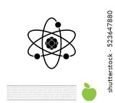 pictograph of atom | Shutterstock .eps vector #523647880
