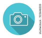 thin line  flat camera icon on...