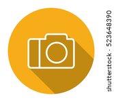 thin line  flat camera icon on...