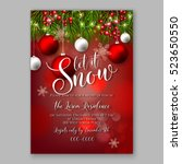 let it snow christmas party... | Shutterstock .eps vector #523650550