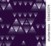 decorative pattern with... | Shutterstock .eps vector #523652374