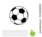 soccer  football  ball icon | Shutterstock .eps vector #523658494