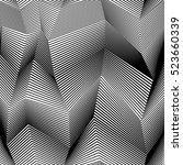 abstract vector seamless moire... | Shutterstock .eps vector #523660339