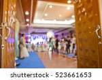 wedding party in large hall  ... | Shutterstock . vector #523661653