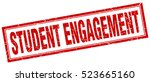 student engagement. stamp.... | Shutterstock .eps vector #523665160