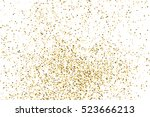 gold glitter texture isolated... | Shutterstock .eps vector #523666213